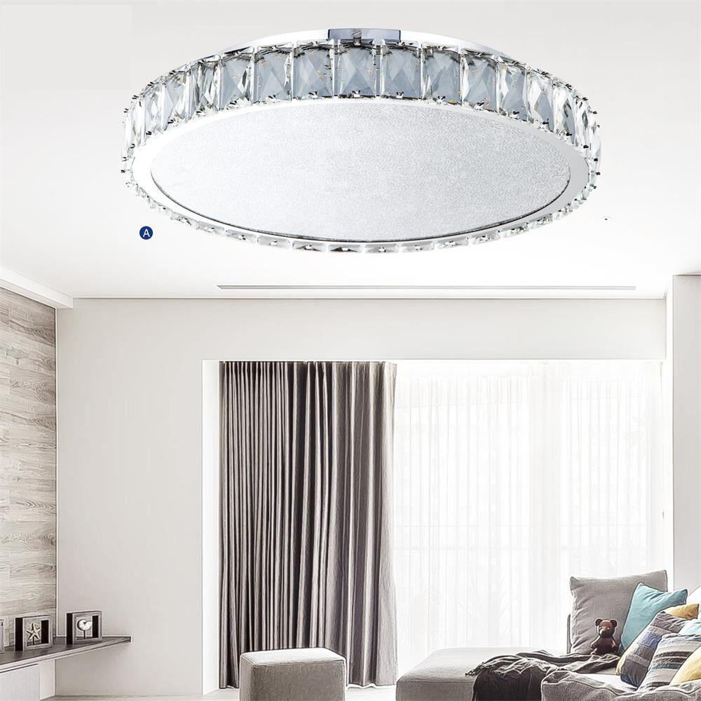 Geniune K9 Crystal Chandelier 30 40 60cm Day Weiß Ceiling Light Crushed Crystal