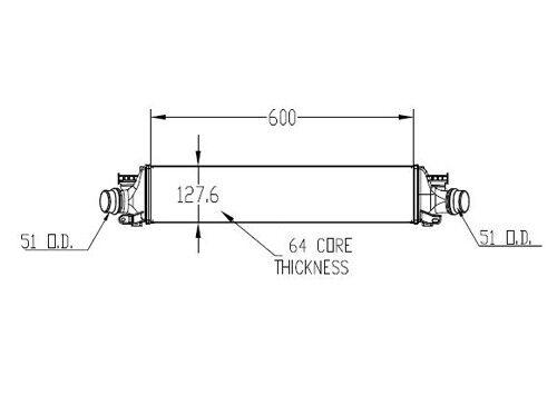 Intercooler For 2012-2017 Chevrolet Sonic 2015 2013 2014 2016 TYC 18022
