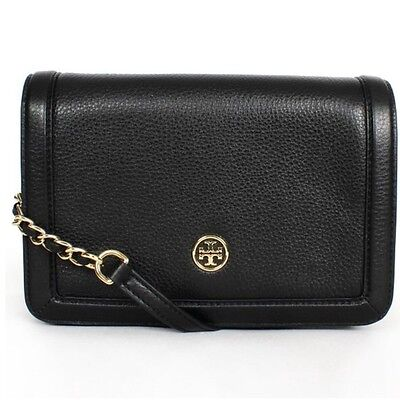 Tory Burch Leather Landon Combo Cross body Black Bag Style#18169686 NWT