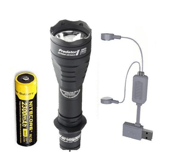 Armytek Predator Pro v3 XHP35 Hi Flashlight Warm w NL183 Battery + A1 Charger