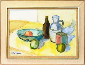 Expressive-Arthur-Y-Nilsson-034-still-Life-with-containers-and-Fruit-034-64-x-83-cm