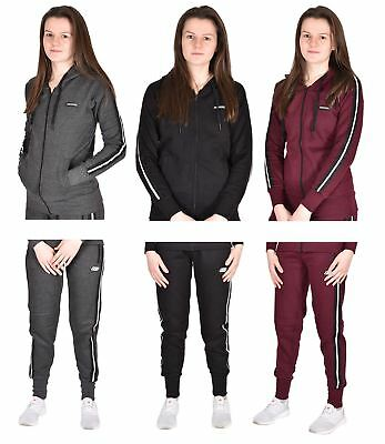 SchöN Skechers Womens Sweatshirt Zip Up Ladies Joggers Gym Sports Hoodie Top Tracksuit