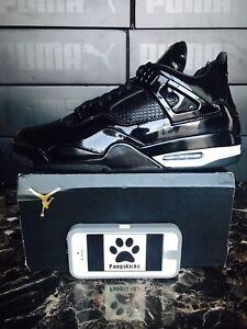 f0b8e5fe5fac Nike Air Jordan 4 Retro 11Lab4  Black Patent Leather  719864-010 ...