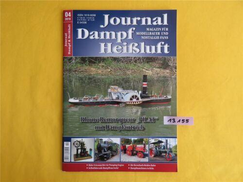 04 Magazin Modellbau und Nostalgie Fans 2019 Journal Dampf /& Heißluft NEU