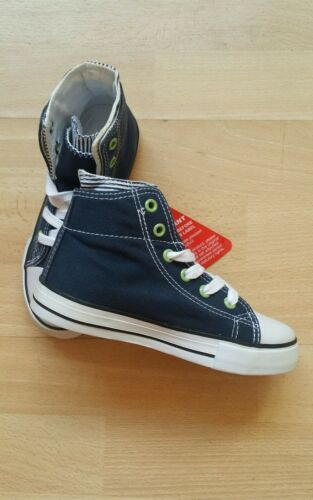 Boys Ladybird Navy Hi Top Canvas Sneakers sizes 4//21-12//31 New