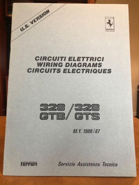 Ferrari 328 Gtb 328 Gts Wiring Diagrams  7 Models