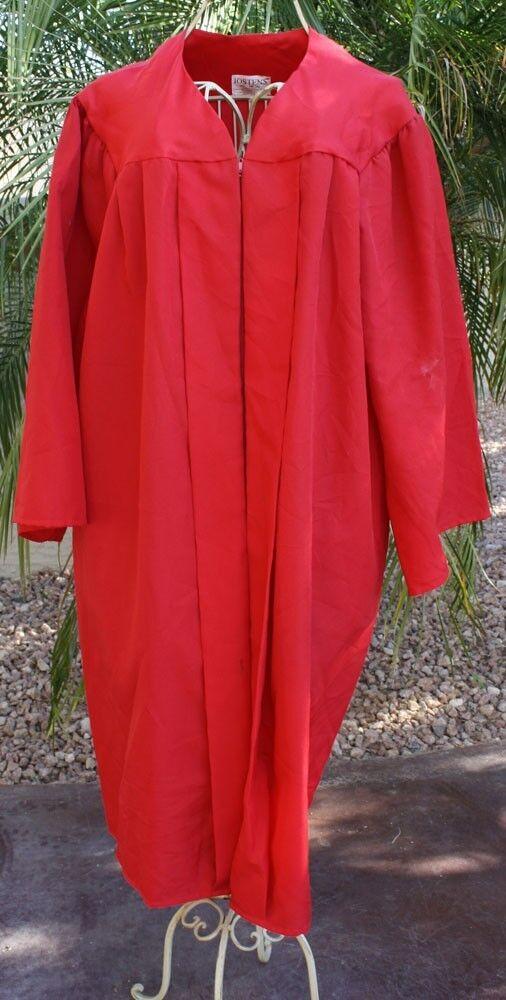 Red Graduation Gown Choir Robe Clergy Matte Jostens Oak Hall Balfour ...