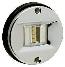 """LED Marine Transom Waterproof Stainless 3/"""" 3 inch Round anchor STERN LIGHT 02381"""