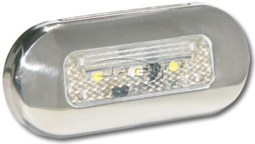 12V STAINLESS STEEL 3-SMD BLUE LED COURTESY LIGHT SS RV//Boat//Cabin//Stair//Step