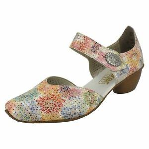 Smart Multicoloured 43754 scarpe Open Rieker Ladies Side EUPFwqRWv