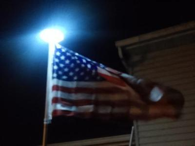 Downward Solar Flagpole Light