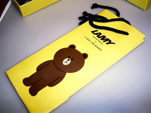 Geschenketui Line Friends BRAUN LAMY Safari Füllhalter für Südkorea