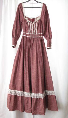 Vintage 1970's Custom Made Prairie Dress