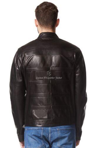 Napa Biker in Fashion pelle da Real Style nera 100 uomo Giacca Designer 233 ZRvSxwq0n