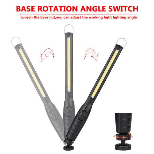 40SL Wiederaufladbare 40 LED COB Slim Magnet Haken Arbeitslicht Lampe Stablampe
