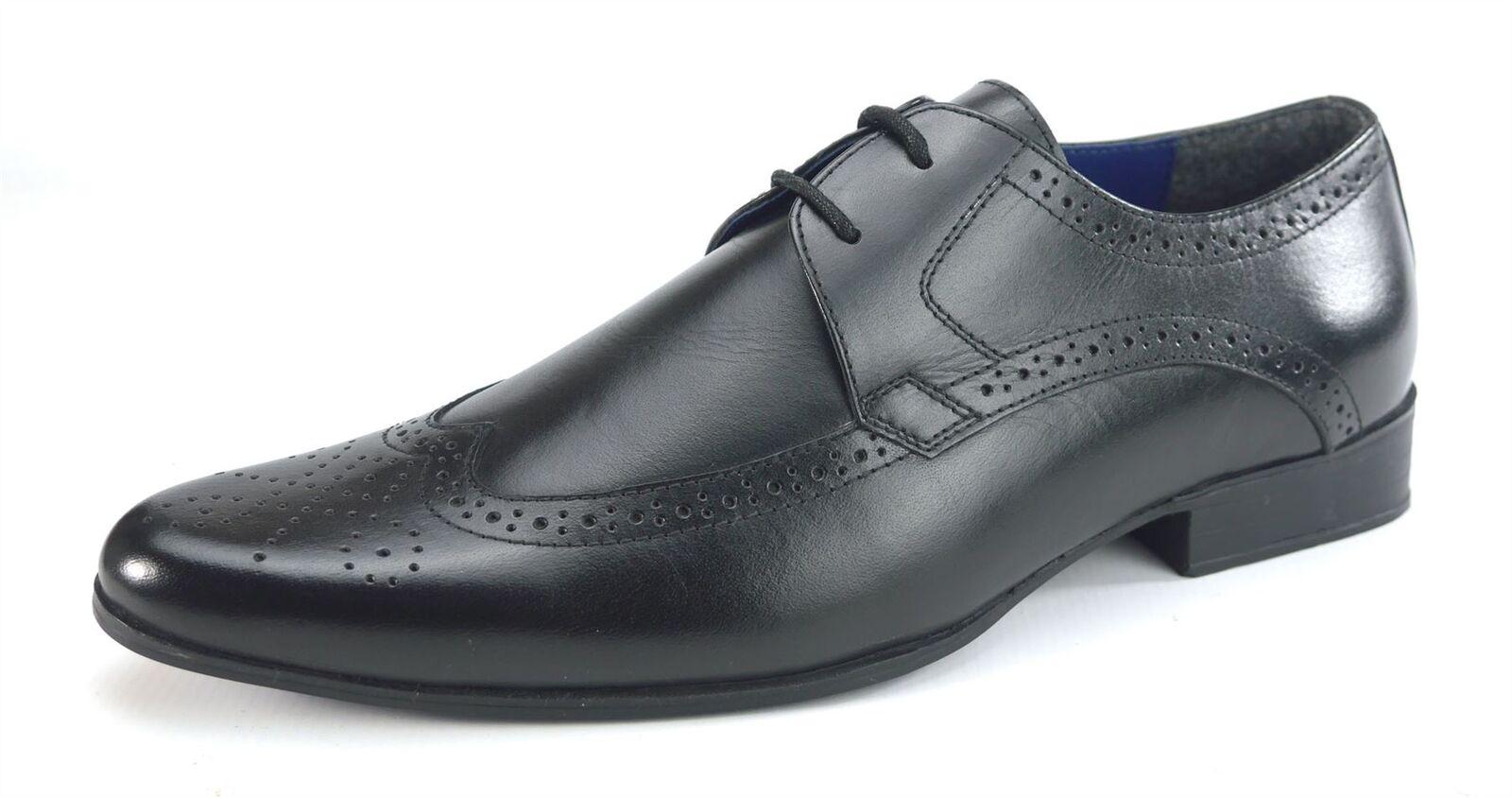 Frank à James Harlow Lacets en Cuir Homme Chaussures Richelieu à Frank bout pointu noir 4ee6f0