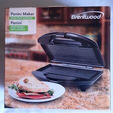 Brentwood Appliances Electric Gourmet Panini Sandwich Maker Nonstick Grill Press