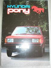 Hyundai Pony brochure Jun 1984 + price list