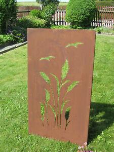 Gartenschild-034-Gaeser-034-rost-braun-Hoehe-ca-100cm-Gartenstecker-mit-Schriftzugbraun