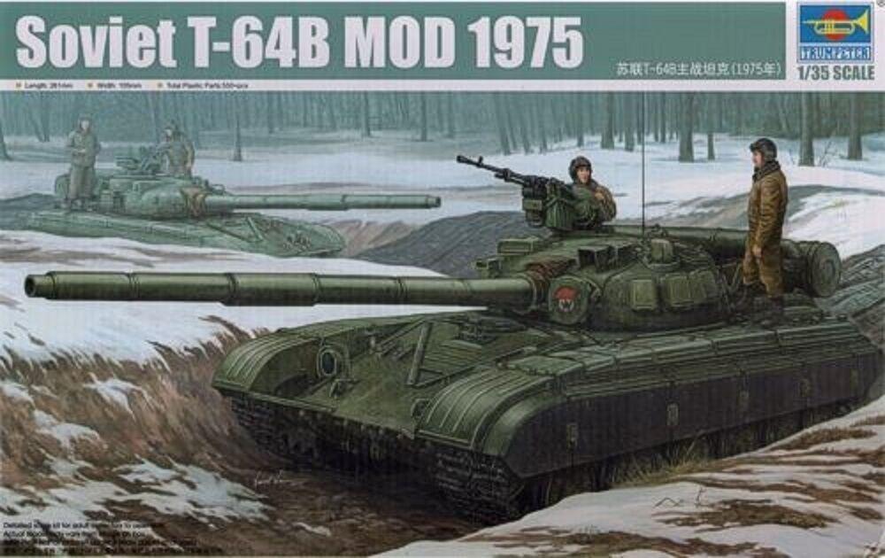 MODEL KIT TRU01581 Trumpeter 1 35 - Russian T-64B Model 1975 MBT
