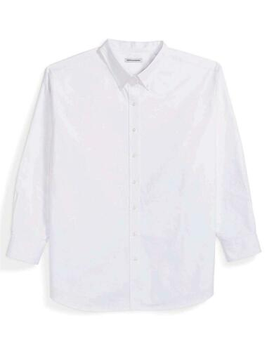 Size 3.0 Essentials Men/'s Big /& Tall Long-Sleeve Oxford Shirt fit White