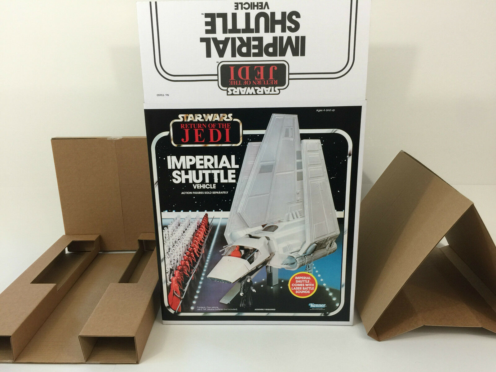 Replacement vintage star wars redj kenner imperial shuttle box and inserts