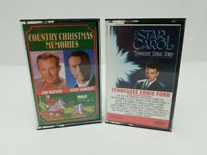 Country-Christmas-Cassettes-Tennessee-Ernie-Ford-Star-Carol-amp-Country-Christmas