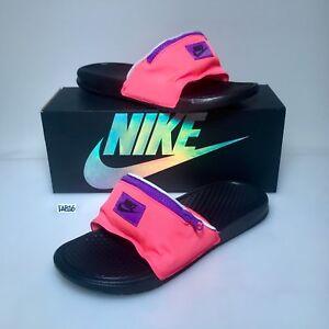 3f3abfd9880c Nike Benassi JDI Fanny Pack Slide Pink Hyper Punch Black AO1037 600 ...