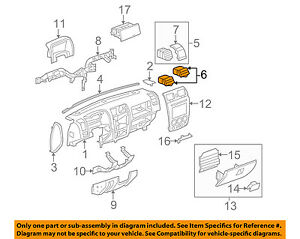 GM OEM Dash Air Vent-AC A//C Heater Duct Outlet Louvre Left 15171983