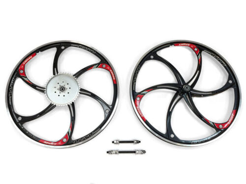 Aluminum Wheels with 44T Sprocket HY-22 80CC Gas Motorized Bicycle Black
