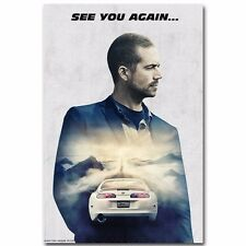 "Fast and Furious 7 Paul Walker Movie star hot wall  Poster  18/""x13/""  001"