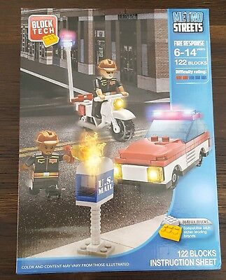 Block Tech Metro Streets Fire Response 122 Blocks Compatible with Lego