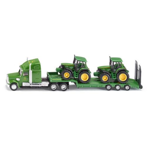 Siku 1837 us cargador profundamente con 2 John Deere tractores escala 1:87 nuevo! °