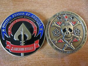 Details about CIA Covert Special Operations Clandestine Service Lethal  HUMINT Challenge Coin