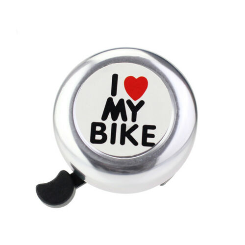 Safety Bicycle Bell I Love My Bike Printed Clear Sound Alarm Warning Bell US