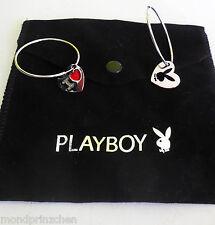 PLAYBOY Creolen Bunny Platinum Plated