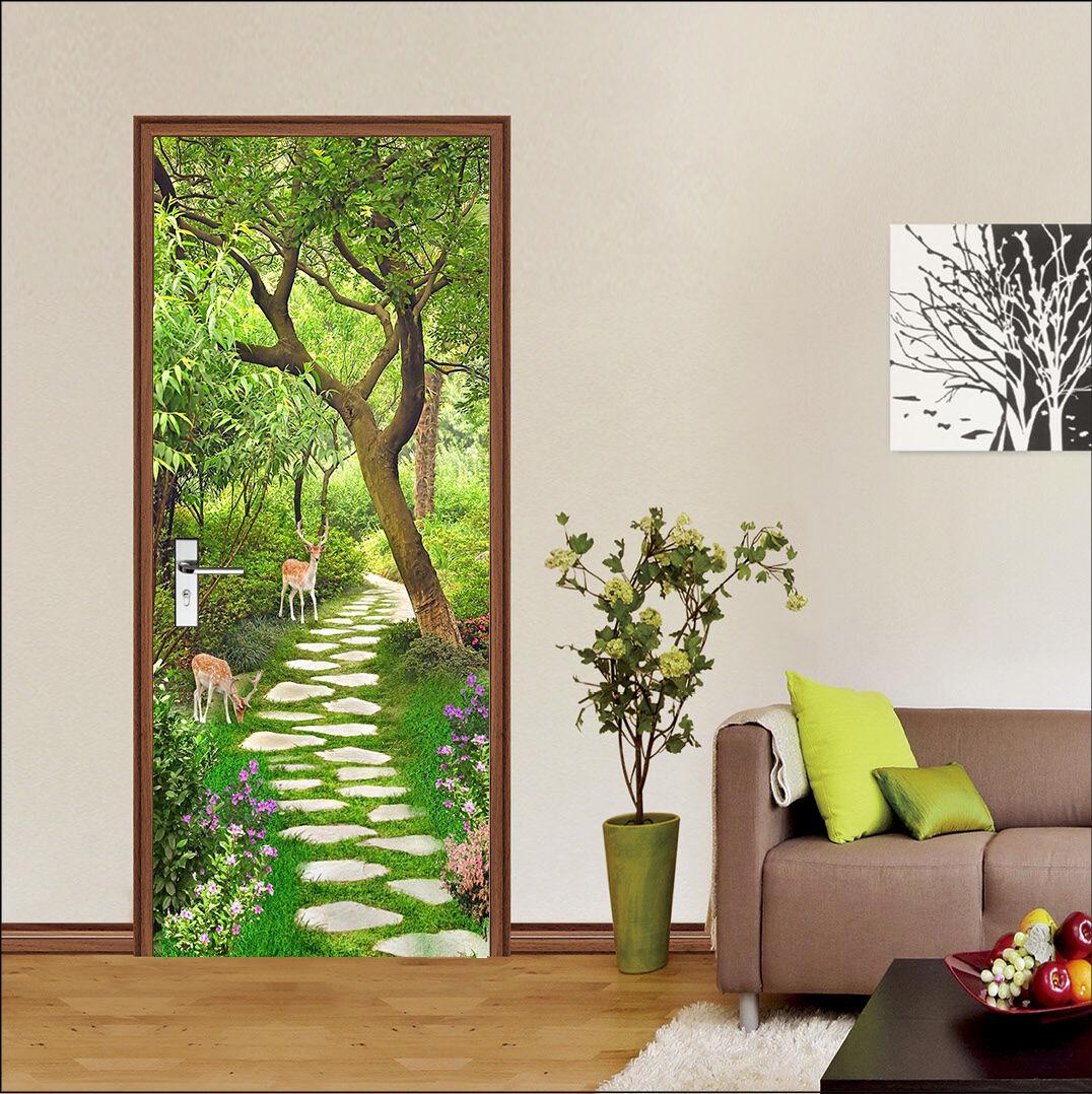 3D Hirsch 716 Tür Wandmalerei Wandaufkleber Aufkleber AJ WALLPAPER DE Kyra