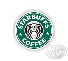Starbuffs Coffee Car Van Sticker Decal Funny Logo Remake Stickers Starbucks