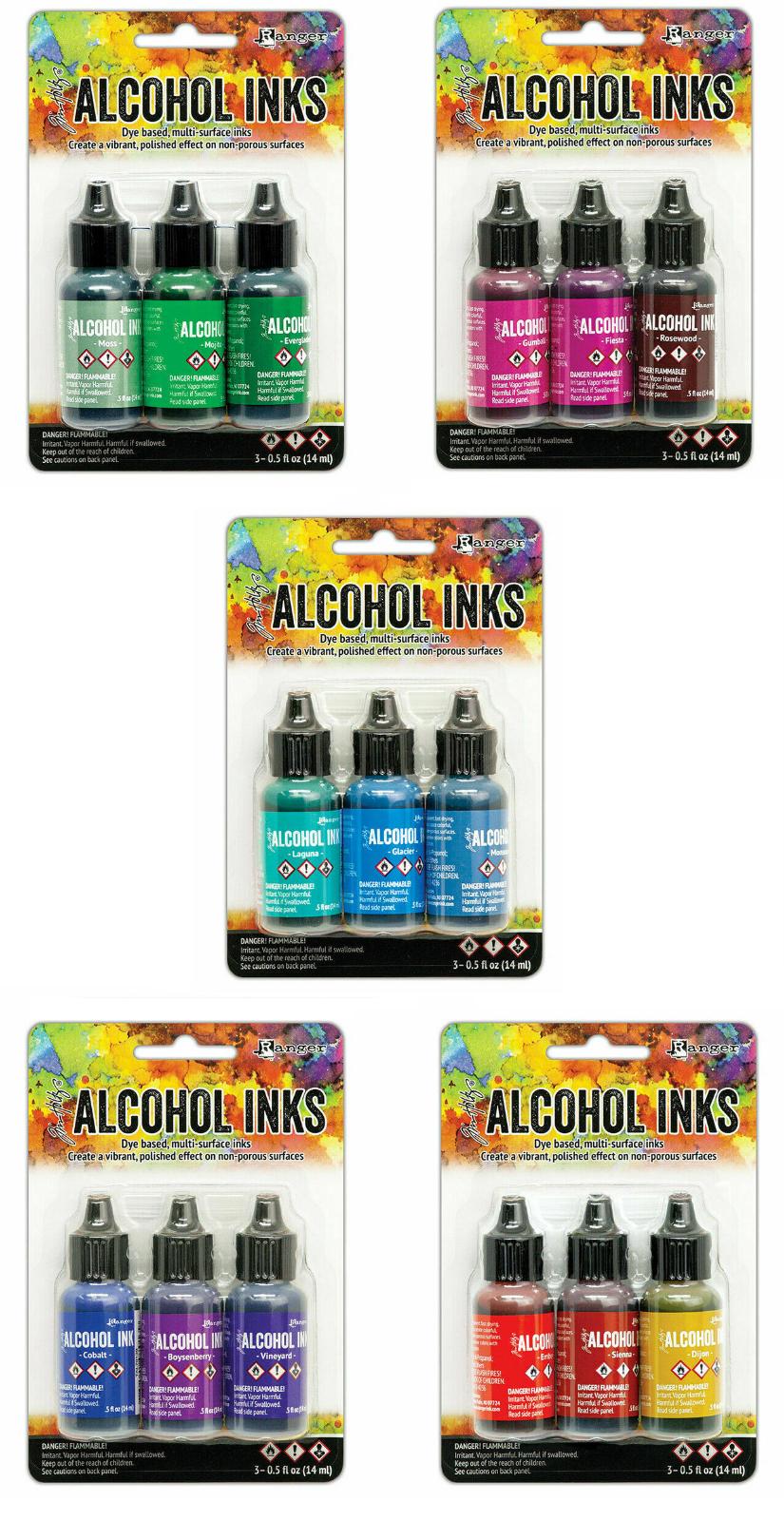 Teal//Blue Spectrum TAK69669 3Pc New 2020 Ranger Tim Holtz  Alcohol Ink .5oz