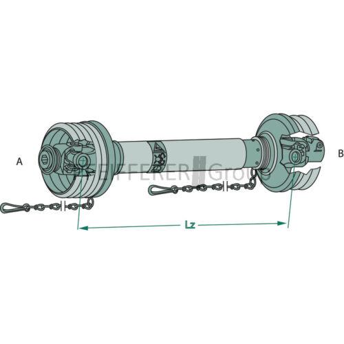 692717 WALTERSCHEID Ecoline Gelenkwelle 710 mm 100E Profil 00c//0a V-Nr