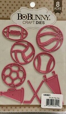 SPORTS BALLS Lets Play Dies Craft Die Cutting Dies BOBUNNY 12839021 New