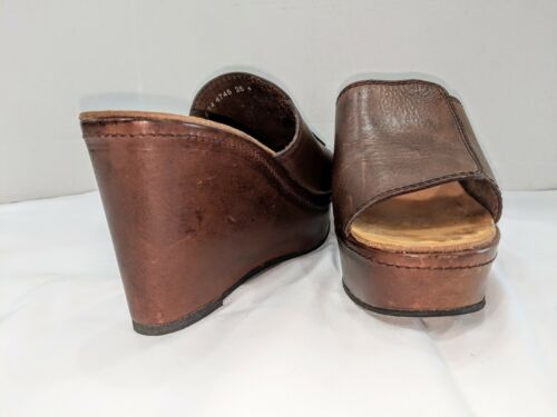 1990/'s CLERGERIE two tones oxford LEATHER laced shoes MOCCASINS  size us 7  french 38.5
