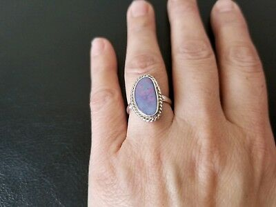 17x8mm. Australian Opal Ring Opal Ring Doublet Opal Ring