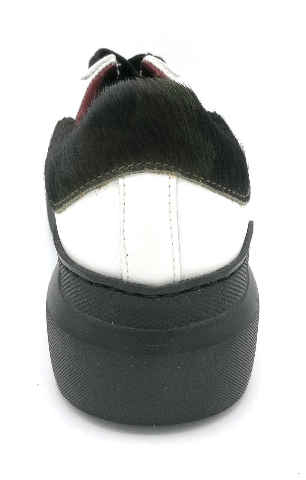 Ed Parrish Parrish Parrish CKLD 1501 sneaker pelle bianco cavallino black 8634fc