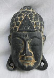 Hand Painted Buddha Terracotta Wall Hanging BNIB Plaque Garden Ornament