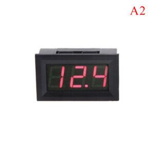 Mini voltmètre testeur batterie DC 0-12V voiture automobile rouge  I