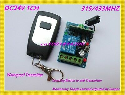 24VDC Relay Remote Control Switch Access Entry RF Controller Receiver Transmitte