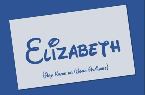 *ANY NAME or WORD* Personalised Disney Name Stencil Reusable Mylar