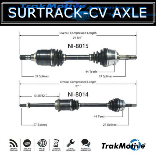 Front Left+Right Set of 2 Cv Axle Shaft SurTrack For 1993-97 Altima Manual  UU27