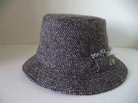 Hanna Walking Hat Black Gray Speckled Tweed Irish Donegal